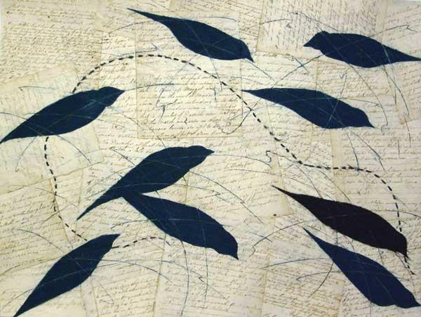 Collage art by Louise Laplante   ClothPaperScissors.com