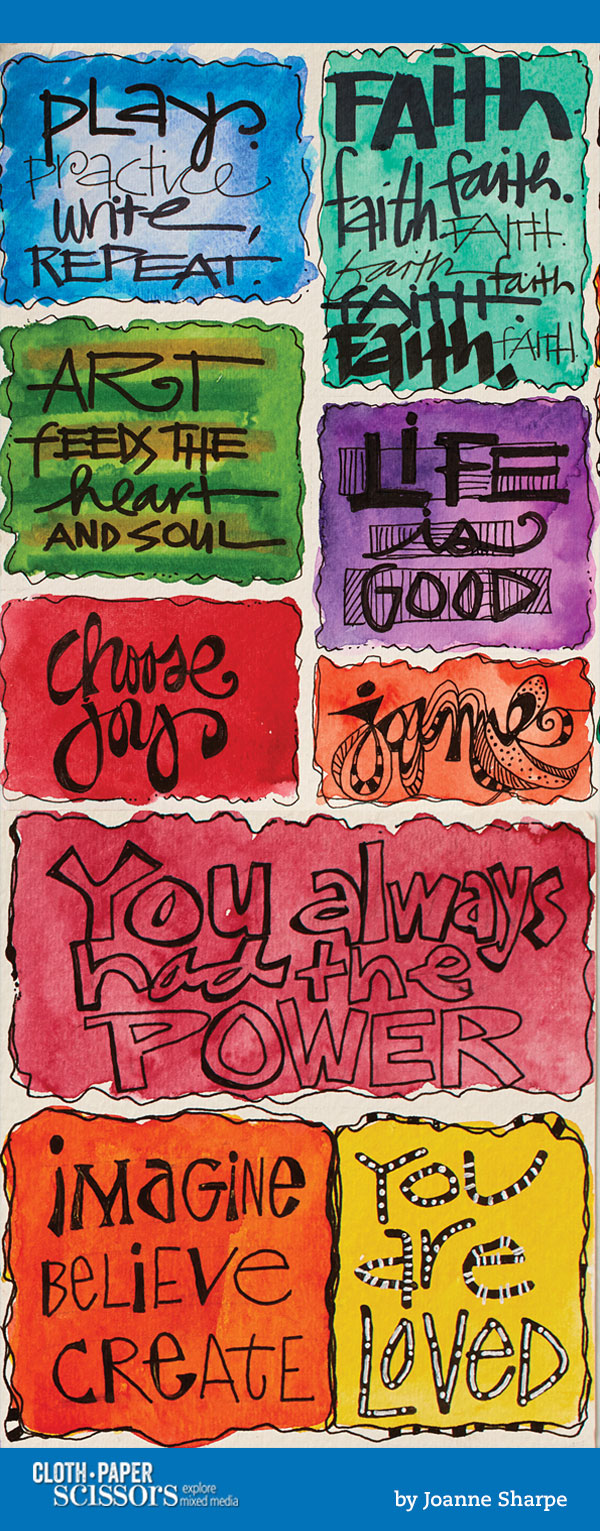 Creative Hand Lettering   Joanne Sharpe, ClothPaperScissors.com