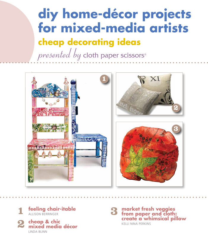 Download these free DIY home decor tutorials guide to put your mixed media talent to work!