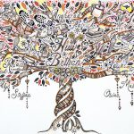 Family tree doodle art | Angharad Edwards, ClothPaperScissors.com