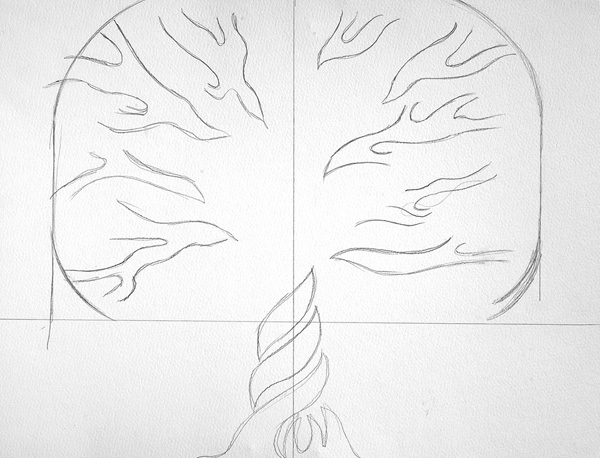 Family tree doodle art | Angharad Edwards, ClothPaperScissors.com