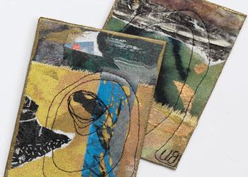 Fabric Collage Art: Fabric Mail Art by Wen Redmond