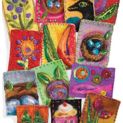 felted artist trading cards