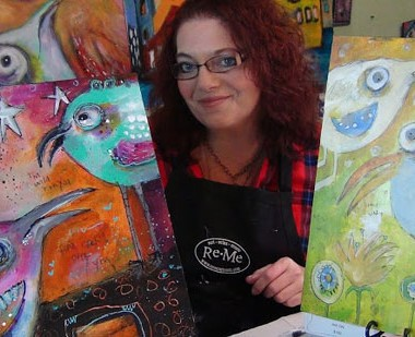 Explore Gelli Plates for Colorful Results | Jodi Ohl, ClothPaperScissors.com