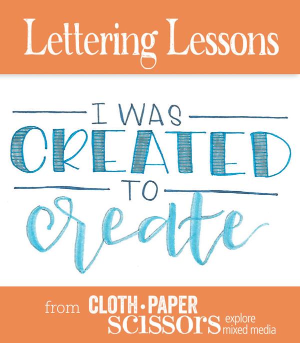 Hand lettering | Taylor Huizenga, ClothPaperScissors.com