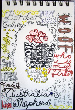 Lettering exercise | Cherie Haas, ClothPaperScissors.com