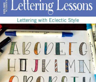 Hand lettering tips | ClothPaperScissors.com