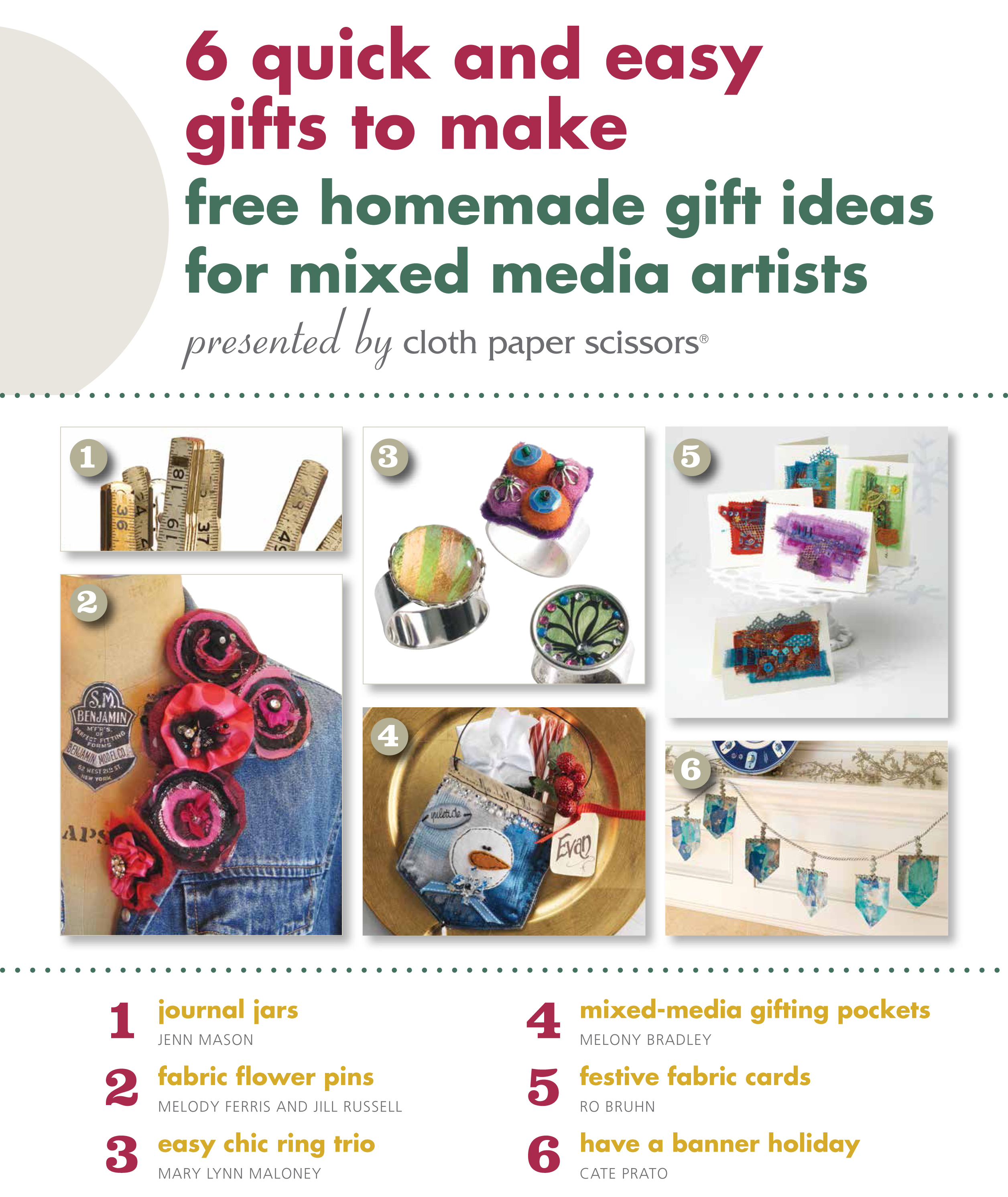 Learn how to make mixed media gifts!