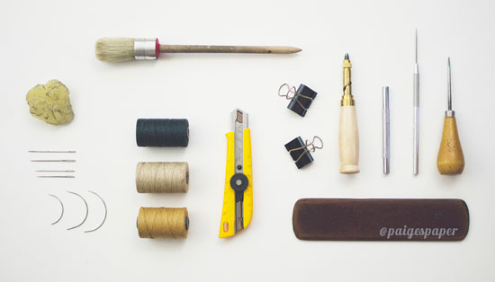 Bookbinding supplies | Paige Martin, ClothPaperScissors.com
