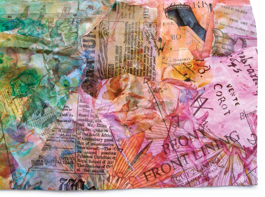 Learn how to do collage art for home decor in this tutorial!