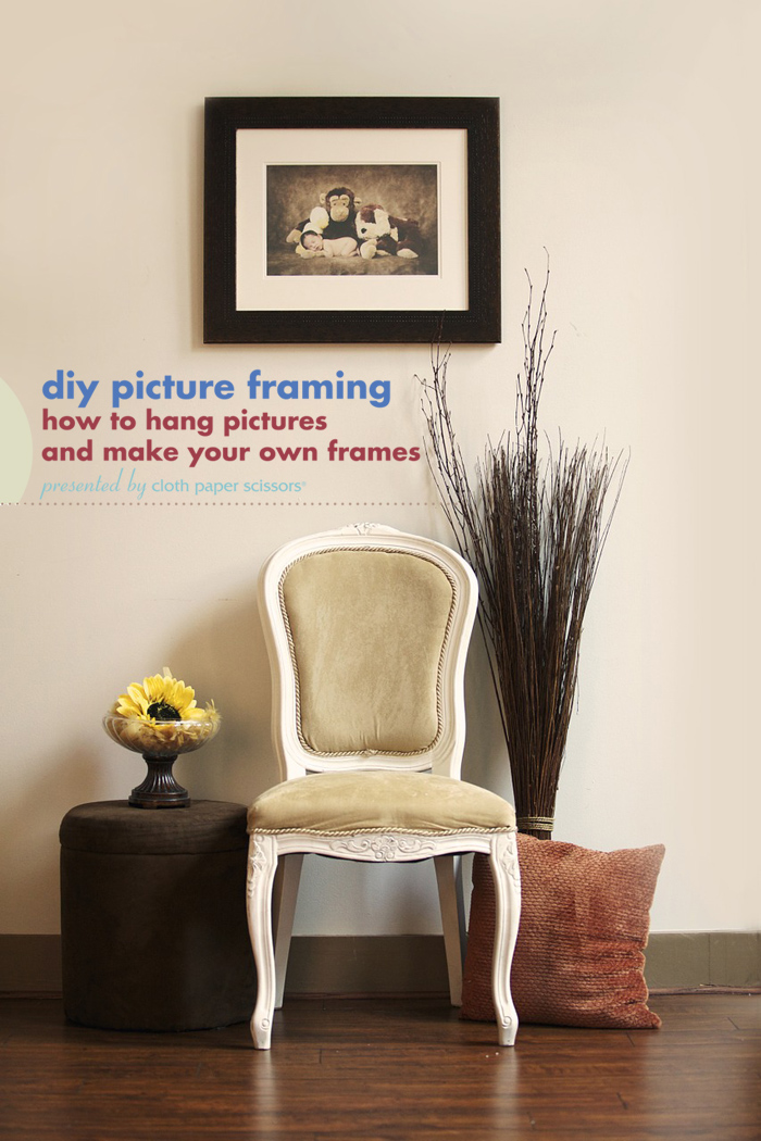 Download this free guide to get to know how to make picture frames and then how to hang them on a wall!