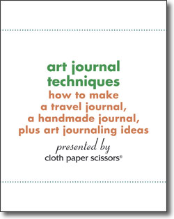 Learn how to make an art journal with this free download!