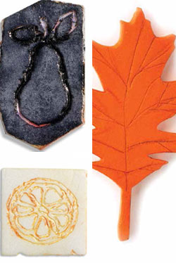 Learn how to carve a stamp and use your handmade art stamps.