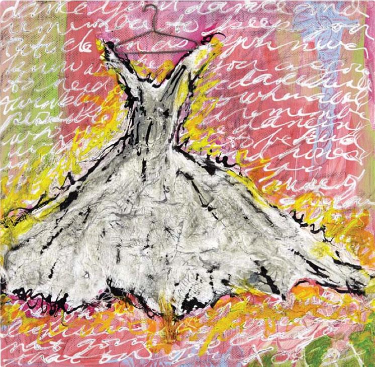 Mixed-media art by Sue Pelletier | ClothPaperScissors.com