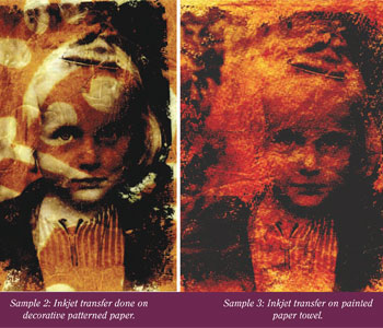 Different types of photo transfer techniques will change the results