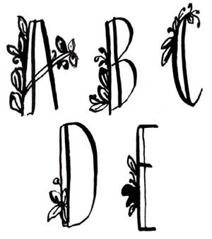 Lettering techniques | Pam Garrison, ClothPaperScissors.com