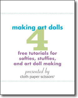 Get your four free tutorials for making art dolls!
