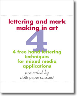 Download today to get your 4 free articles mark making and hand lettering techniques!