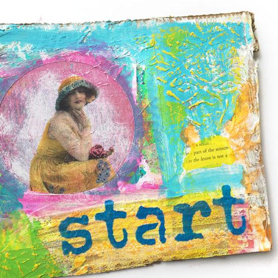 Art journal inspiration | Carolyn Dube, ClothPaperScissors.com