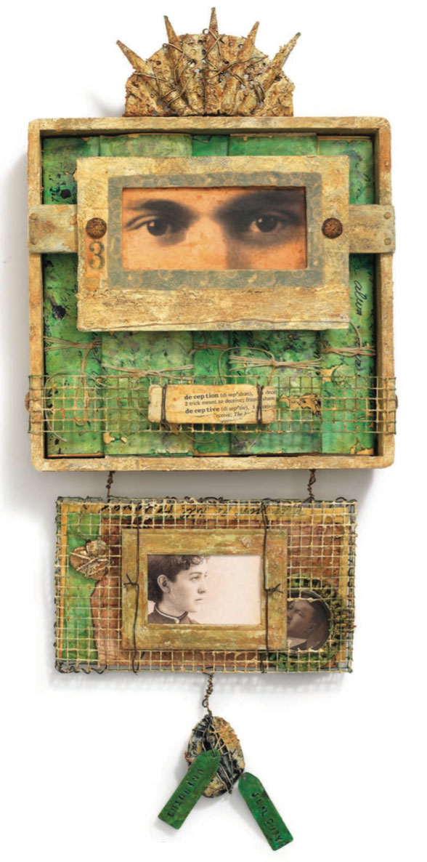 Mixed-media art by K. Wayne Thornley | ClothPaperScissors.com