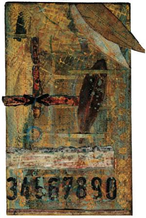 Mixed-media art inspiration by Seth Apter | ClothPaperScissors.com