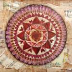 Mixed-media collage mandalas | Katherine Costa, ClothPaperScissors.com