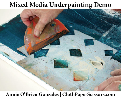 Mixed-media painting lessons