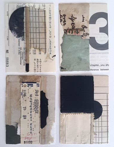 """Utterings of Joy"" series of Artist Trading Cards by Crystal Neubauer"