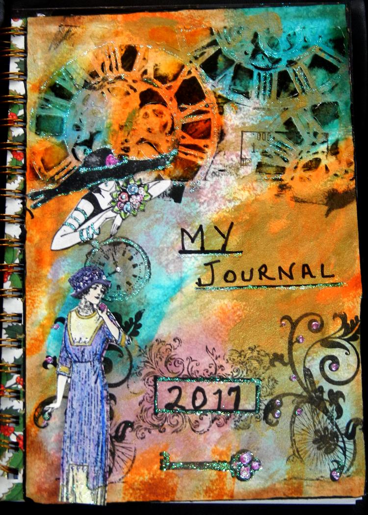 2017 Art Journal Cover Cloth Paper Scissors