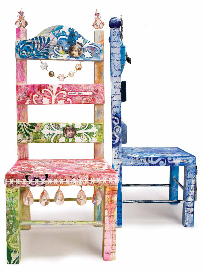 You have to see these mixed media painted chair ideas!