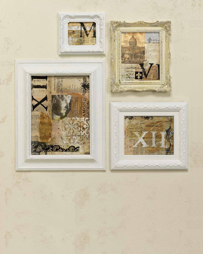 Looking for creative ways to paint picture frames? This free guide includes tutorials for painting photo frames and making collages with them!