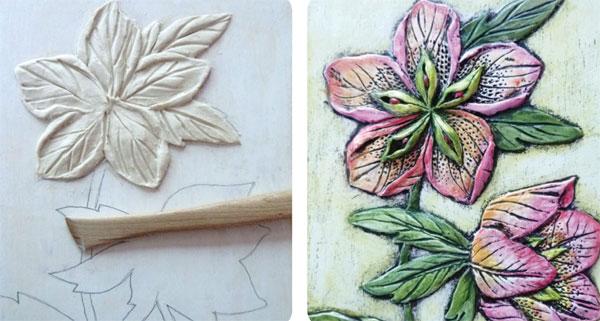 Paper Clay art projects   Rogene Manas, ClothPaperScissors.com