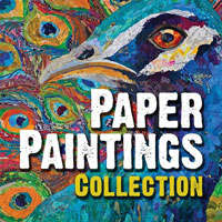 Collage ideas for paper paintings | ClothPaperScissors.com