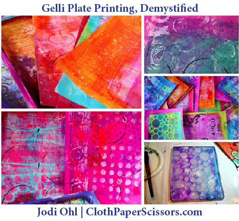 Explore Gelli Plates for Colorful Printmaking Results  | ClothPaperScissors.com