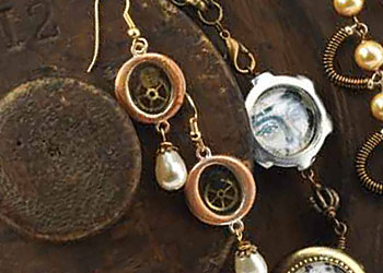 Steampunk Jewelry, Article 5: Chronorevelator Earrings Steampunk Style by Jean Campbell