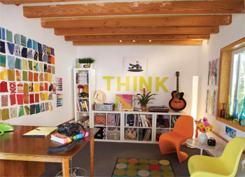 home studio in any space and get functional studio decorating ideas