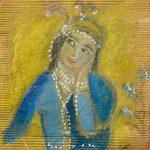 Tea bag art | Irene Rafael, ClothPaperScissors.com