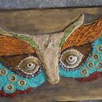 How to make beaded mosaics | Katherine England, three-dimensional art at ClothPaperScissors.com