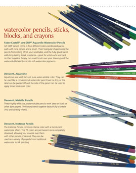 Explore watercolor pencil techniques, including how to use these four varieties.