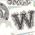 Learn how to draw your own tangles and make designs like these.
