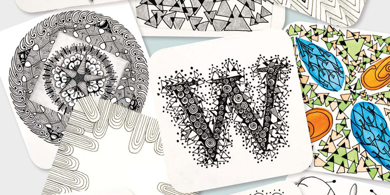 Channel your inner Zentangle® to make designs like these.