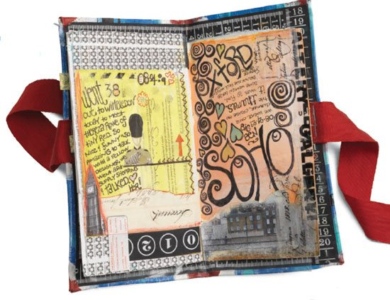 Art journaling ideas from Dawn Okol and ClothPaperScissors.com