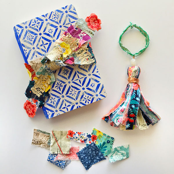 From little bits amazing fabric scrap projects are born. Dig into your stash and make something!