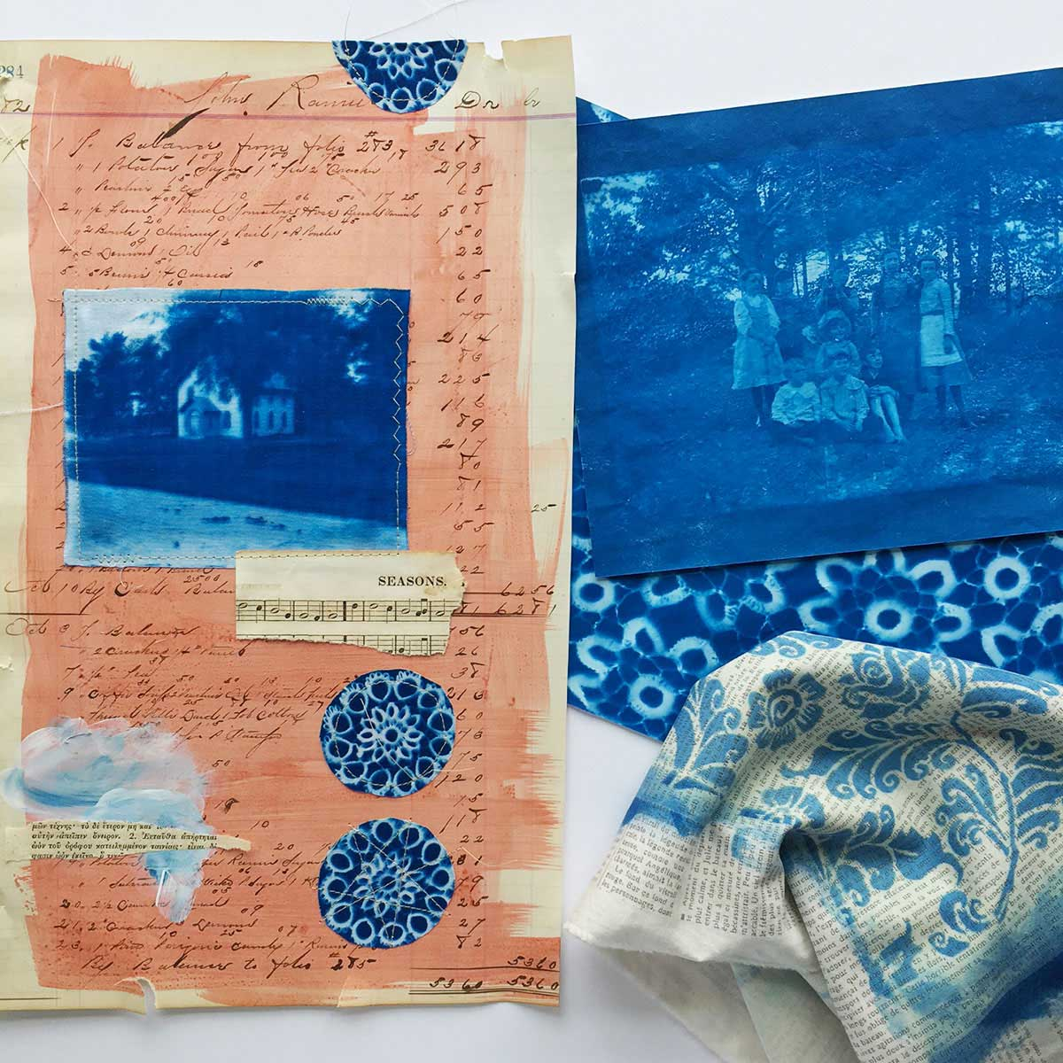 Experiments With Cyanotype Prints Cloth Paper Scissors