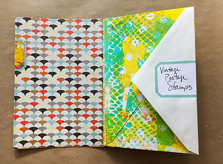 Attaching envelopes for an envelope journal