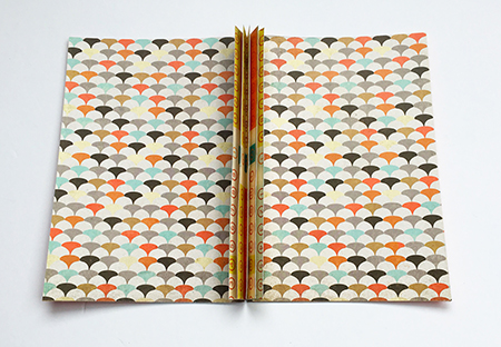 Decorative endpapers for a handmade book