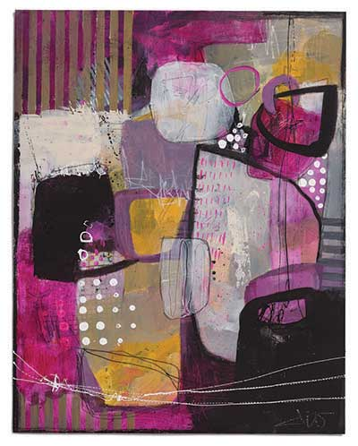 mixed-media abstract