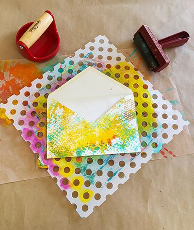 Monoprinting envelopes for an envelope journal