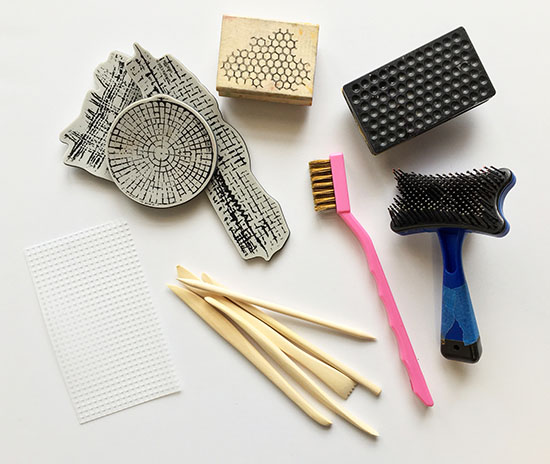 Texture tools for polymer clay