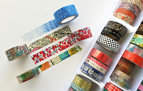 washi tape is a fun art journaling material to work with